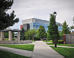 The new home of the College of Pharmacy and the Medical Science unit opened on the WSU Spokane campus last November. Photo Lori Maricle