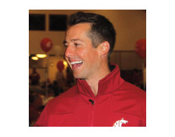 Back on campus at WSU, Gesser is fundraising and reconnecting with former student athletes. <em>Courtesy Washington State University Athletics</em>