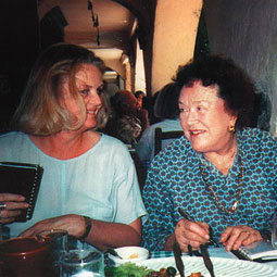 Noël Riley Fitch with Julia Child. Courtesy Noël Riley Fitch.
