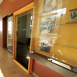 The Murrow Door on display at the Edward R. Murrow College of Communication.