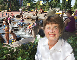 Since 1990, Florence Wager has  volunteered in support of projects like the Esther Short Park. Bill Wagner
