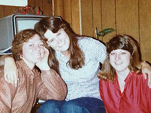 Michelle Nelson '81, Laurie Cayton '79, and Teena McDonald '80