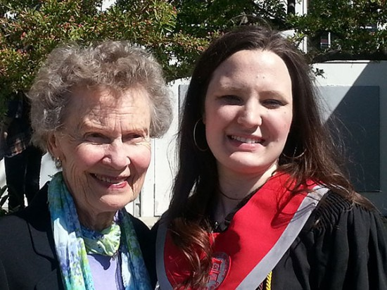 Nancy Turnquist Sandbloom '53 and Allison Dore '13