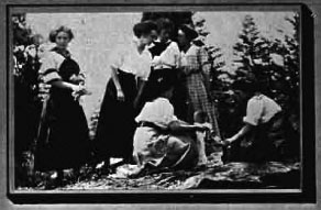 Making a picnic at WSC, 1912