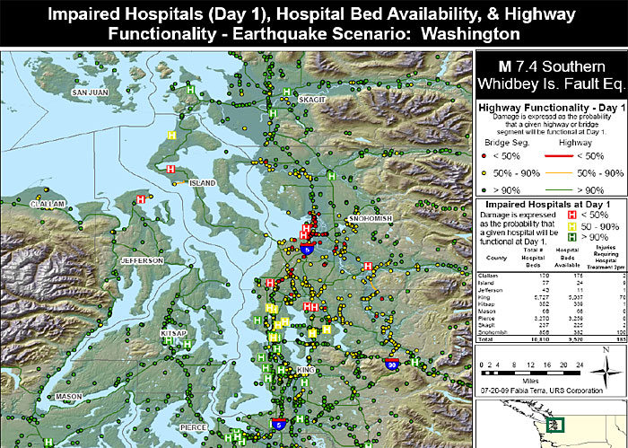 impaired hospitals and highways map