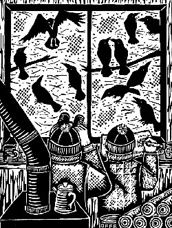Illustration by Evon Zerbetz from Dog Days, Raven Nights