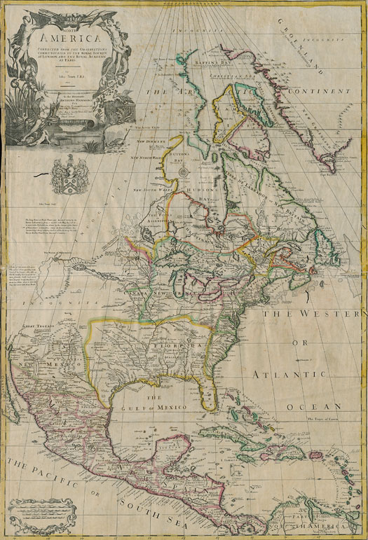 1710 Senex map of North America