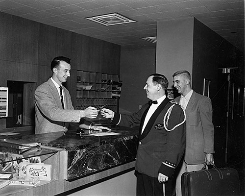 Bellman of the year recognized at the 1956 Bell Hop